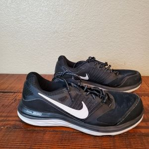 Nike Dual Fusion X Black Running Active Sneakers